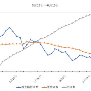 6月前半のグラフ(新型コロナ)
