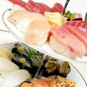 皿を変えただけでご飯が楽しい・誕生日におうちで寿司たぬーんwithはま寿司