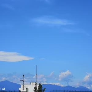 今朝の空は