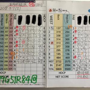 今日のゴルフ挑戦記(277)/東名厚木CC/イン(B)→ウエスト