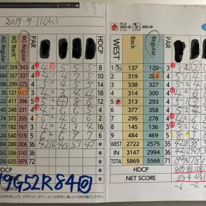 今日のゴルフ挑戦記(278)/東名厚木CC/イン(B)→ウエスト
