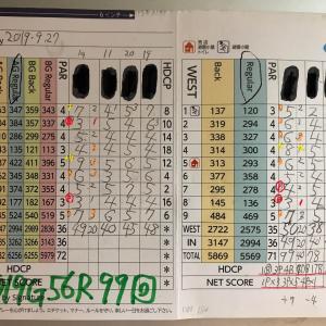 今日のゴルフ挑戦記(282)/東名厚木CC/イン(A)→ウエスト
