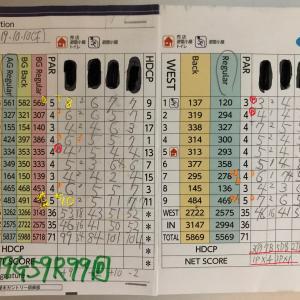 今日のゴルフ挑戦記(285)/東名厚木CC/ウエスト→アウト(A)