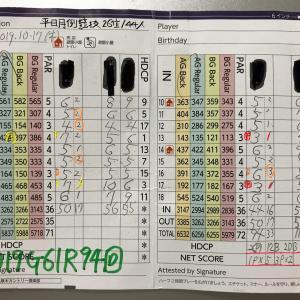 今日のゴルフ挑戦記(287)/東名厚木CC/イン→アウト(A)
