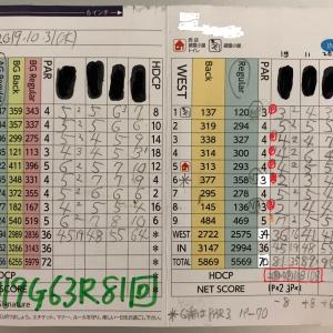 今日のゴルフ挑戦記(289)/東名厚木CC/イン→ウエスト(A)