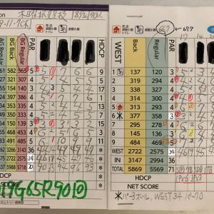 今日のゴルフ挑戦記(291)/東名厚木CC/ウエスト→アウト(B)