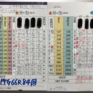 今日のゴルフ挑戦記(292)/東名厚木CC/ウエスト→アウト(A)