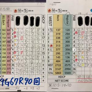 今日のゴルフ挑戦記(293)/東名厚木CC/ウエスト→アウト(A)