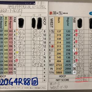 今日のゴルフ挑戦記(306)/東名厚木CC/イン(A)→ウエスト