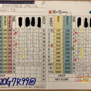 今日のゴルフ挑戦記(309)/東名厚木CC/イン(B)→ウエスト