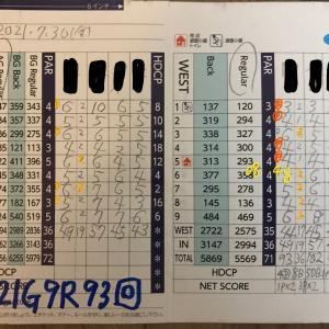 今日のゴルフ挑戦記(350)/東名厚木CC イン(A)→ウエスト
