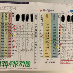 今日のゴルフ挑戦記(275)/東名厚木CC/イン(B)→ウエスト