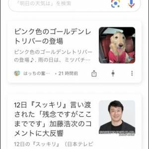Googleの記事に (^_-)-☆