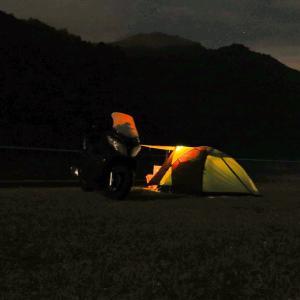 近場でキャンプツーリング その4(寝袋の性能は如何に?)