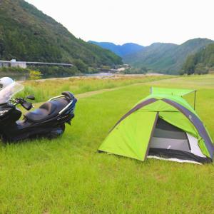 今年初めてのキャンプツーリング(温泉&小船キャンプ場)