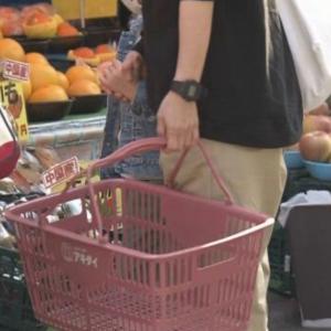 """スーパーに家族連れなど多くの客 """"3密""""避けるため協力を"""