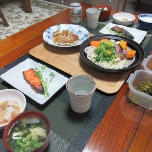 昨日はすき焼きでお腹壊した(笑)  ☆  買物  ☆  鮭の西京味噌漬け 蒸し野菜
