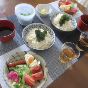 昨夜も眠れず、、ネットで徘徊  日本の危機 ★  夕方慌ただしく出かける事に  ★  お昼の素麺