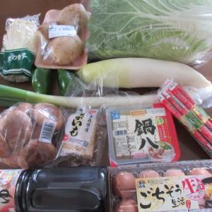 祝天皇誕生日  ★ 買物 ★ 晩御飯  焼きそばと湯豆腐