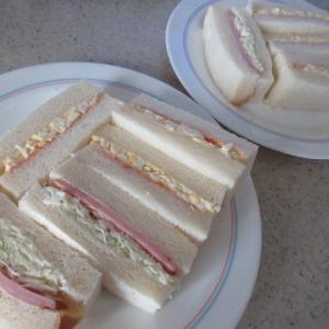 sandwichの事  ★ そんなお付き合いは苦手   ★  朝のサンドと晩御飯
