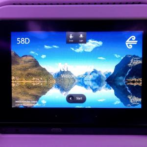 Air NZの機内食-関空発オークランド行き