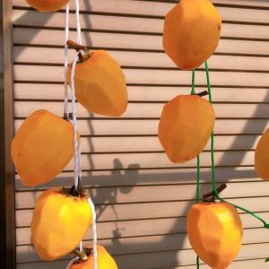 柿を干しました