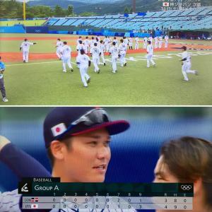 野球・日本代表。初戦、危なっかしくも勝利ですが。