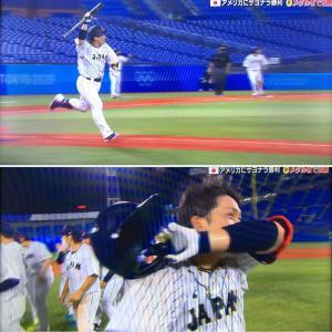 野球・日本代表。アメリカに勝ちましたー!途中、酷い試合でしたが。