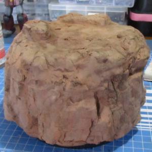 100均粘土でベース作り