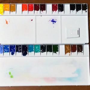 水彩画教室用パレット