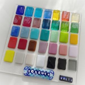 [ガラスフュージング] ガラスの色見本