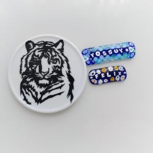 [アールポーセ] カッターワーク練習(虎) とデザインナイフ