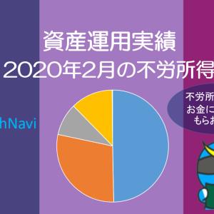 【運用実績】2020年2月の資産運用実績