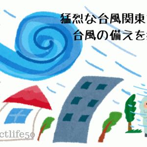猛烈な台風が関東を直撃?台風の備えを始める。