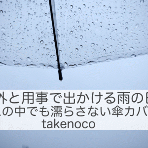 雨の日の外出、バス・電車の中でも濡らさない傘カバーtakenoco 暮らしの道具21