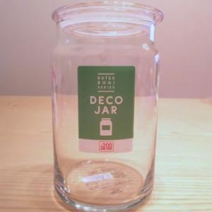 お茶パック容器にガラス瓶を使ってみた♪ (*´∀`)