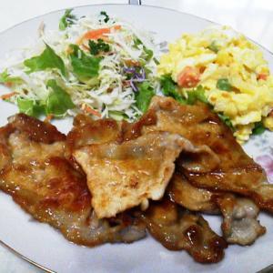 豚肉の黒酢しょうが焼き[家ごはん・簡単レシピ](20200220)