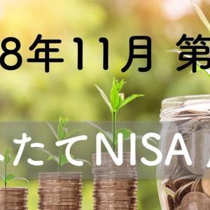 【2018/11 第3週】つみたてNISAは不調気味 前週比ー7857円