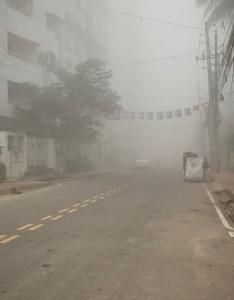 空気汚染400超えの朝