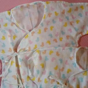 ダブルガーゼで手縫い・赤ちゃんの短肌着と長肌着~カリメロ帖karimeroばーばのてしごと~