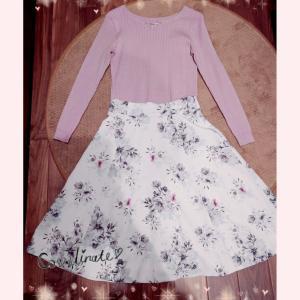 火曜OLコーデ☆着納め!お気に入りの花柄スカート