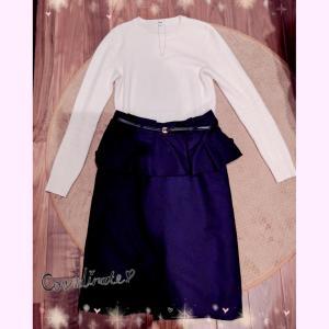 火曜OLコーデ☆まだまだ着ちゃうペプラムスカート