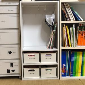 6歳娘と4歳息子のニトリと無印良品で作る身支度収納とDWEの棚を徹底した収納術。