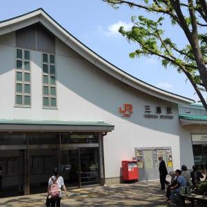 東海道線に乗り、三嶋大社に行き、暑くなり駅に戻りました。