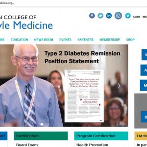アメリカ生活習慣介入医療学会(ACLM)