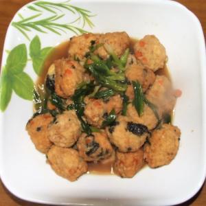 鶏挽肉の飛竜頭&牛蒡と豚バラ肉のしぐれ煮
