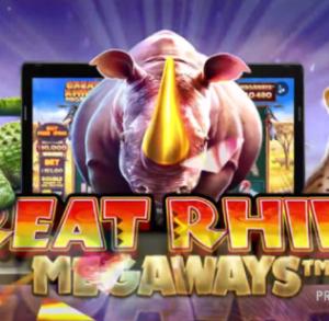 $必見【Great Rhino Megaways】最大200704通りの勝利ライン数&最大2万倍配当!