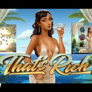 セレブ系スロット【That's Rich】巨大ワイルド&倍率UP⤴UP$止まらない追加スピン