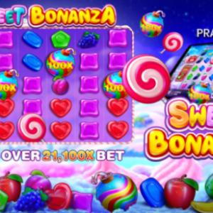 【Sweet Bonanza】虹色の爆弾絵柄で最大配当21,100倍!連鎖とドカンが止まらない!