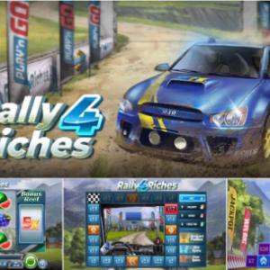 【Rally 4 Riches】レースで優勝すれば一撃1,000倍配当!🏆倍率アップ&巨大ワイルド有り◎